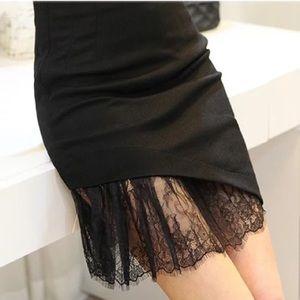 Lace asymmetrical mini skirt size xs
